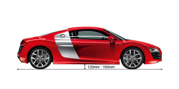 audi r8 ground clearance comparison